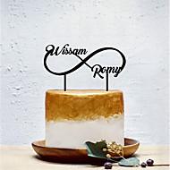 Kakepynt Klassisk Tema / Kreativ / Bryllup Personalisert / Romantikk Akryl Bryllup / Fest med Solid 1 pcs OPP