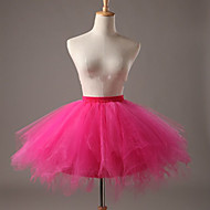 Ballet Classic Lolita 1950s Dress Petticoat Hoop Skirt Tutu Crinoline Women's Girls' Tulle Costume Black / Light Sky Blue / White Vintage Cosplay Party Performance Short Length Princess