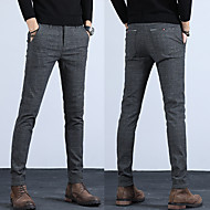 Men's Basic Chinos Pants - Solid Colored Classic Blue Black Gray 34 36 38
