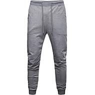 tanie -Męskie Sportowy Spodnie dresowe Spodnie Solidne kolory Ściągana na sznurek Czarny Szary M L XL