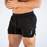 billiga -Herr Sportig Utomhus Shorts Träning Sport & Utomhus Dagliga kläder Shorts Byxor Enfärgad Yoga Kort Snörning Svart Grå M L XL