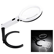Portable 10 LED Light Magnifier Magnifying Glass with Light Lens Table Desk-type Lamp Handheld Foldable Loupe 2.5x 8x