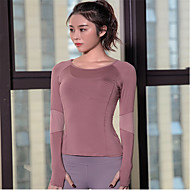 Women's Patchwork Yoga Top Geometry Elastane Yoga Running Fitness Tee / T-shirt Top Long Sleeve Activewear Lightweight Breathable Quick Dry Sweat-wicking Micro-elastic Slim