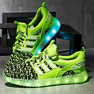 abordables -Chico LED / Confort / Zapatos con luz Tejido Zapatillas de Atletismo Niños pequeños (4-7ys) / Niños grandes (7 años +) LED / Luminoso Rojo / Negro / Rosa Primavera / Otoño / TPR (Goma Termoplástica)