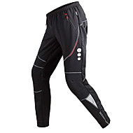 cheap -TRYSIL Men's Cycling Tights Cycling Pants Winter Fleece Spandex Polyester Bike Pants / Trousers Tights Bottoms Thermal / Warm Waterproof Windproof Sports Solid Colored Black Mountain Bike MTB Road