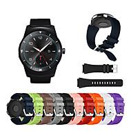 Watch Band for LG G Watch W100 / LG G Watch R W110 / LG Watch Urbane W150 LG Sport Band / Classic Buckle Silicone Wrist Strap