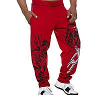 povoljno -Muškarci Aktivan Sportske hlače Hlače Jednobojni Vezica Crn Red M L XL