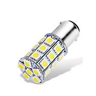 ieftine -1pcs ba15d 1142 1076 1176 becuri auto led 12-24v 5050 27 smd alb pentru spate luminile de mers înapoi luminile de frână spate luminile