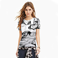 Women's Basic / Exaggerated T-shirt - Color Block / 3D / Graphic Print White
