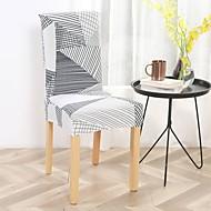 abordables -housse de chaise chaise de salle à manger housse super fit extensible amovible lavable courte chaise de salle à manger housse de protection housse de siège pour hôtel / salle à manger / cérémonie / ba