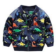cheap -Kids Boys' Active Dinosaur Print Jacket & Coat Green
