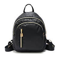 Large Capacity Nylon Buttons / Zipper Commuter Backpack Color Block Outdoor Black / Fall & Winter