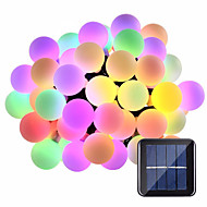 15m String Lights 100 LEDs 1Set Mounting Bracket Warm White / RGB / White Waterproof / Solar / Creative Solar Powered 1 set