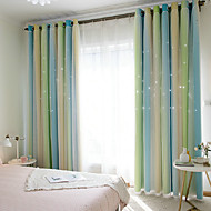 European Blackout One Panel Curtain & Sheer Living Room   Curtains