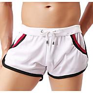 billiga -Herr Grundläggande Chinos Shorts Byxor Multifärgad Snörning Vit Svart Blå M L XL