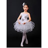Kids' Dancewear / Ballet Dresses Girls' Training / Performance Faux Fur / Elastic / Lace Lace / Ruching / Tiered Sleeveless High Leotard / Onesie