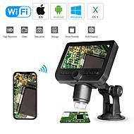 wifi digitalt mikroskop 4,3led skærmvisning 720p 50x-1000x forstørrelse 1080p fhd 2,0 mp 8 ledet til Android og iOS tablet pc