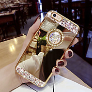 cheap -Case For Samsung Galaxy S9 / S9 Plus / S8 Plus Rhinestone / with Stand Back Cover Glitter Shine Hard Acrylic