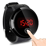 Men's Digital Watch Digital Rubber Black 30 m Water Resistant / Waterproof Touch Screen Casual Watch Digital LED Fashion - Black One Year Battery Life / Stainless Steel