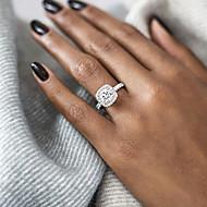 povoljno -Žene Zaručnički prsten Belle Ring Dijamant Kubični Zirconia 1pc Rose Gold Zlato Srebro Glina Pozlaćeni dame Vjenčan Blinging Vjenčanje Party Jewelry Pasijans Lenonice HALO Ljubav