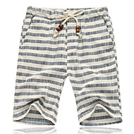 Men's Basic Plus Size Loose Shorts Pants - Striped Red Gray XXXL XXXXL XXXXXL