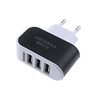 cheap -Portable Charger USB Charger EU Plug Multi-Output / Normal 3 USB Ports 2.1 A 100~240 V for Universal