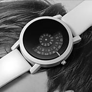 Men's Dress Watch Quartz Leather Black / White Casual Watch Digital Fashion - White Black Black / White One Year Battery Life / Stainless Steel