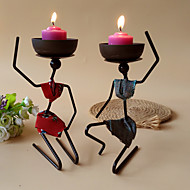 Modern Contemporary Iron Candle Holders Candelabra / Candlestick 1pc, Candle / Candle Holder