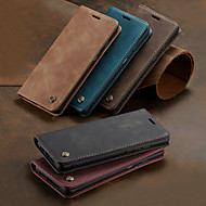 Case For OnePlus One Plus 7 / One Plus 7 Pro Card Holder / with Stand / Flip Full Body Cases Solid Colored Hard PU Leather