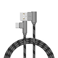 cheap -Type-C Cable 2.0m(6.5Ft) Gold Plated / Quick Charge Aluminum USB Cable Adapter For Samsung / Huawei / Xiaomi