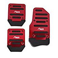 3pcs Non-Slip Racing Manual Car Truck Pedals Pad Cover Set Red