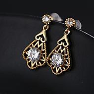 Women's Silver Cubic Zirconia Hoop Earrings S925 Sterling Silver Earrings Jewelry Gold / Silver For Christmas Wedding 1 Pair
