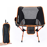 Camping Chair with Side Pocket Portable Ultra Light (UL) Foldable Comfortable Mesh 7075 Aluminium Alloy for Camping / Hiking Fishing Beach Outdoor Autumn / Fall Spring Orange Blue Red Dark Blue