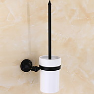 Toilet Brush Holder Creative / Multifunction Contemporary Brass 1pc Wall Mounted