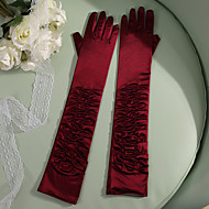 Lace / Elastic Satin Elbow Length Glove Party / Evening / Elegant With Solid