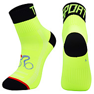 cheap -Compression Socks Athletic Sports Socks Crew Socks Cycling Socks Men's Football / Soccer Cycling / Bike Bike / Cycling Breathable Wearable 1 Pair Winter Solid Color Chinlon Black White Orange M L XL