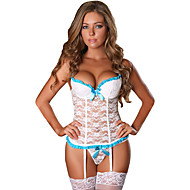 Női Csipke / Csokor / Fodrozott Extra méret Szuper szexi Harisnyakötős fehérnemű Hálóruha Színes / Jacquardszövet Fekete Fehér Rubin M L XL