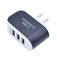 cheap -2019 3 Ports 3A Triple USB Port Wall Home Travel AC Charger Adapter US Plug Mobile Phone Charger Dropshipping