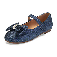 Girls' Mary Jane / Flower Girl Shoes Synthetics Flats Little Kids(4-7ys) / Big Kids(7years +) Bowknot / Sparkling Glitter Dark Blue / Champagne / Ivory Spring / Fall / Party & Evening