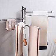 abordables -porte-serviettes créatif fun & lunatique en acier inoxydable 2pc - salle de bain / bain d'hôtel mural