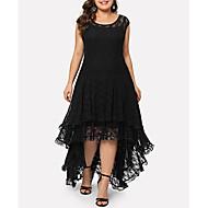 Women's Elegant A Line Dress - Solid Colored Black XXL XXXL XXXXL