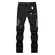 cheap -Men's Hiking Pants Convertible Pants / Zip Off Pants Solid Color Summer Outdoor Waterproof Breathable Quick Dry Stretchy Elastane Pants / Trousers Bottoms Dark Grey Black Khaki Hunting Fishing