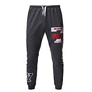 Men's Basic EU / US Size Sweatpants Pants - Print Black Dark Gray Light gray L XL XXL / Drawstring