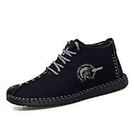 Men's Comfort Shoes PU Winter Vintage Boots Warm Booties / Ankle Boots Black / Yellow / Khaki