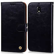 Case For Samsung Galaxy J3 (2017) Card Holder / Flip Full Body Cases Solid Colored Hard PU Leather for J3 (2017)