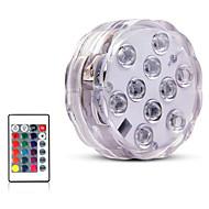preiswerte -10 led ferngesteuerte rgb tauchlicht batteriebetriebene unterwasser nacht lampe outdoor vase schüssel garten party dekoration