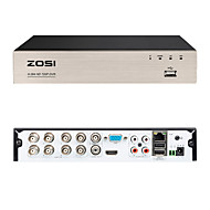 ZOSI 8CH 720P DVR Security Video Recorder BNC P2P Service Mobile Remote Monitoring 8 Channel DVR Smartphone&PC Easy Remote Access 4 in 1 Multi-Function Digital Video Recorder HD-Output VGA No HDD