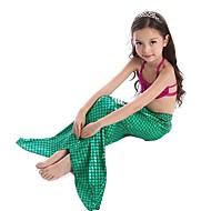 Kids Girls' Basic Mermaid Tail Geometric Swimwear Green