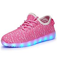 저렴한 -남아 LED / 야광 신발 / USB 충전 튤 운동화 어린 아이들 (4-7ys) / 빅 키즈 (7 년 +) 워킹화 LED / 야광의 블랙 / 핑크 / 그린 가을 / 고무 / EU37