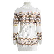Women's Color Block Long Sleeve Pullover Sweater Jumper, Round Neck Spring Black / White / Royal Blue S / M / L